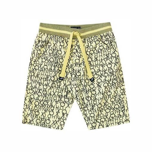 Bermuda de Menino Johnny Fox algodão infantil amarelo