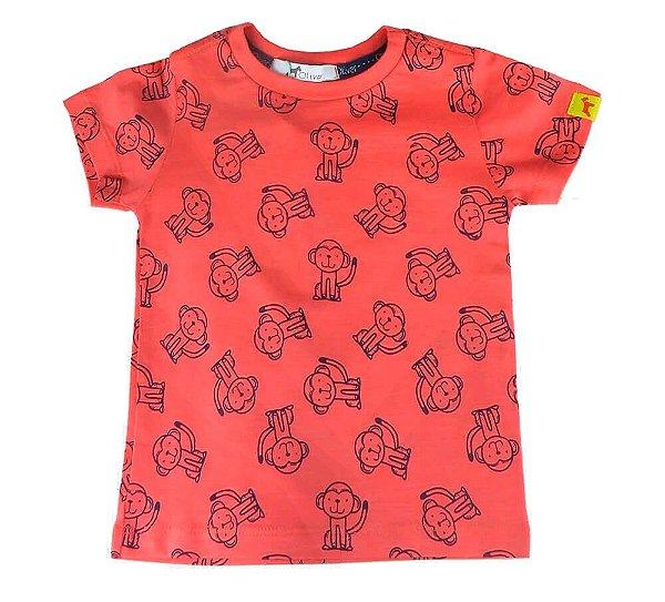 Camiseta Bebê Menino Oliver algodão macaquinhos
