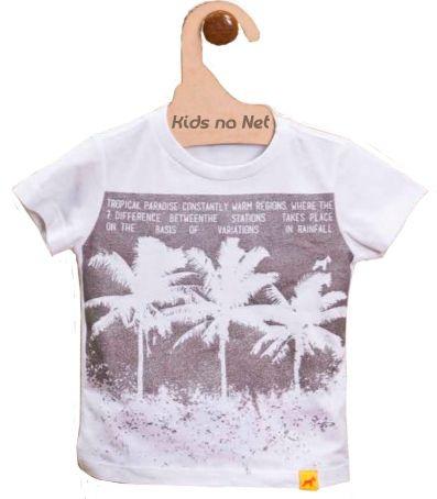 Camiseta Bebê Menino Oliver metalizada coqueiros