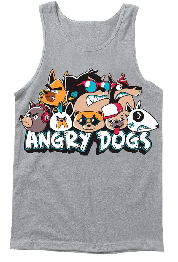 Regata bebê Bebê Menino Stylish for Kids angry dogs