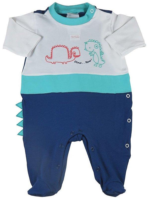Macacão bebê menino Baby Fashion dinossauro