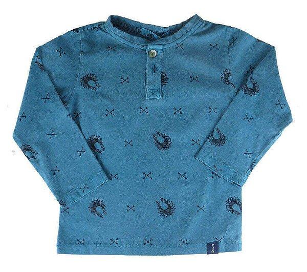 Camiseta infantil Menino Oliver gola portuguesa cokar tribo