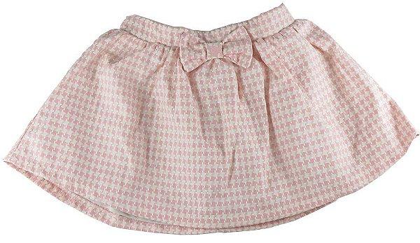 Saia infantil Menina Empório Baby xadrez rosa sophie -