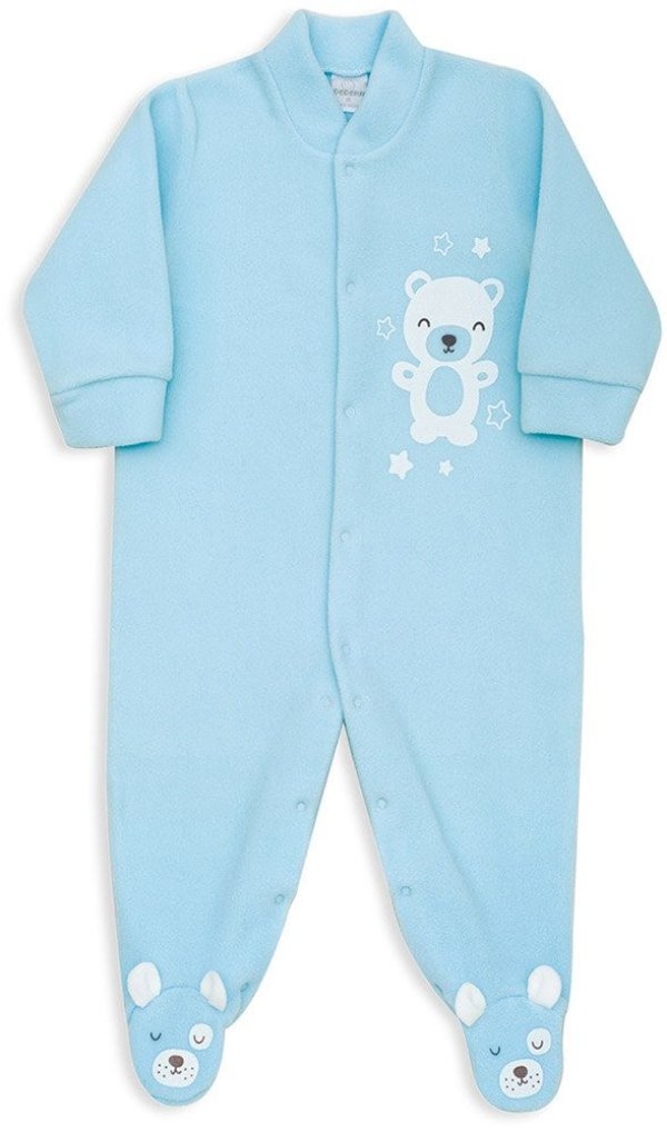 Macacão Bebê Menino Dedeka bebê soft azul bebê urso