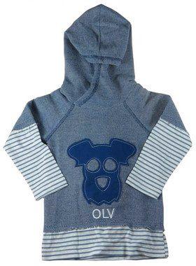Blusa infantil Menino Oliver de moletom  dog olv azul