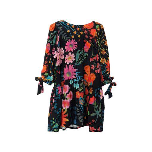 Vestido Infantil das Meninas saiota Orquídeas