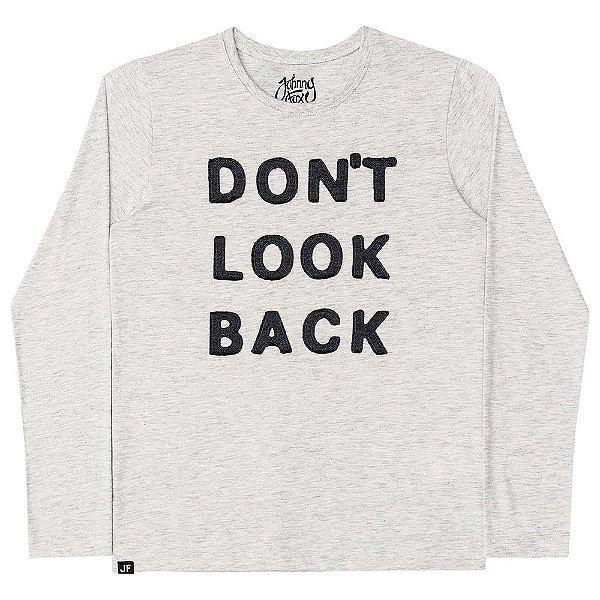 Camiseta Infantil Johnny Fox Cinza Mescla Don´t Look Back