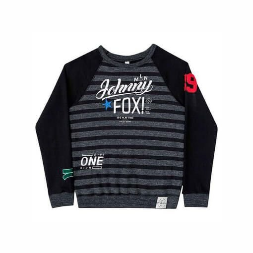 Blusa Johnny Fox Moletom Flanelada Listrada Division One
