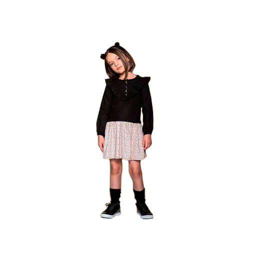 Vestido infantil que te encante sweet preto