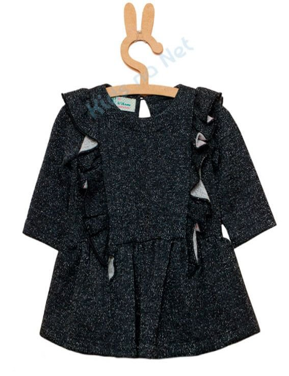 Vestido Bebê Menina Que te encante de moletom flanar preto