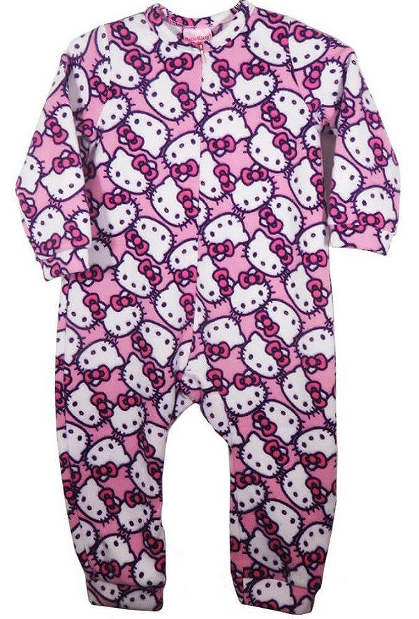 Macacão Bebê Menina Hello Kitty soft