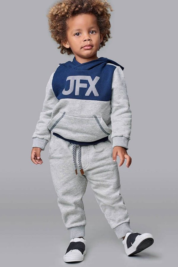 Conjunto infantil Johnny Fox moletom Flanelado Bicolor JFX