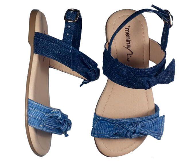 Sandália infantil Menina Rio jeans
