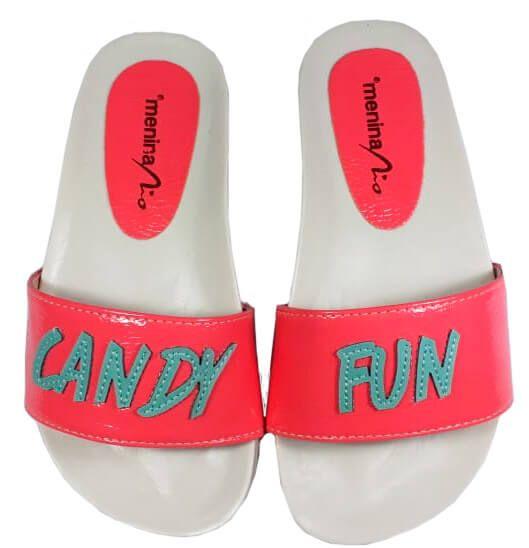 Chinelo infantil Menina Rio Slide Candy Fun