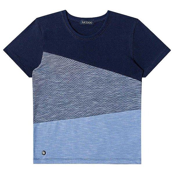 Camiseta Infantil Menino Luc Boo menino tricolor
