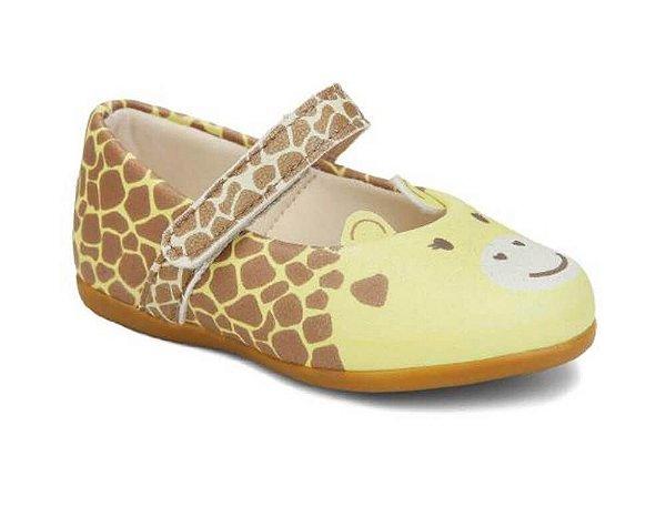 Sapatilha infantil Pesh feminino Girafinha amarelo