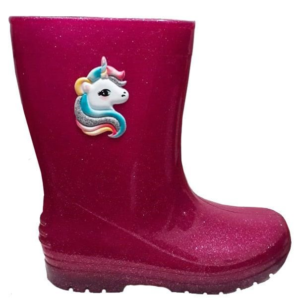 7c12946c9a8 Galocha infantil feminino unicórnio pink glitter - Kids na Net - A ...