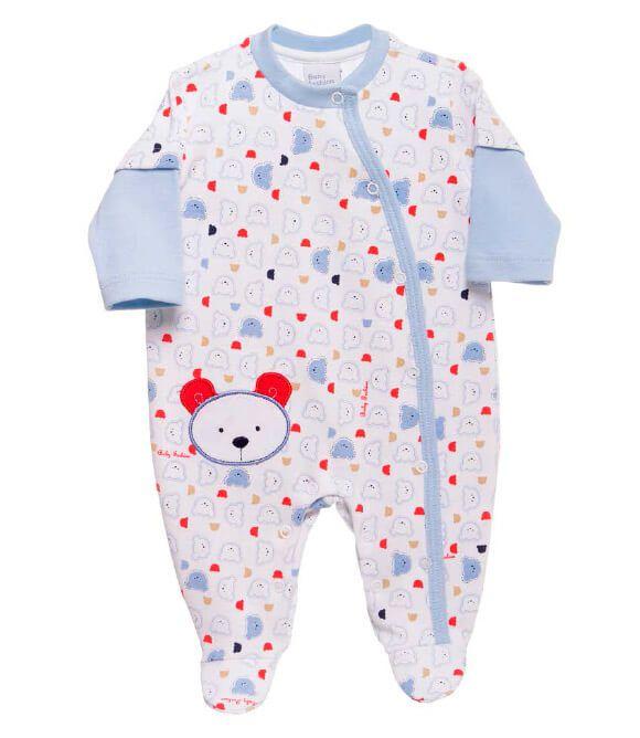 Macacão Bebê Baby fashion bebê ursinhos azul bebê