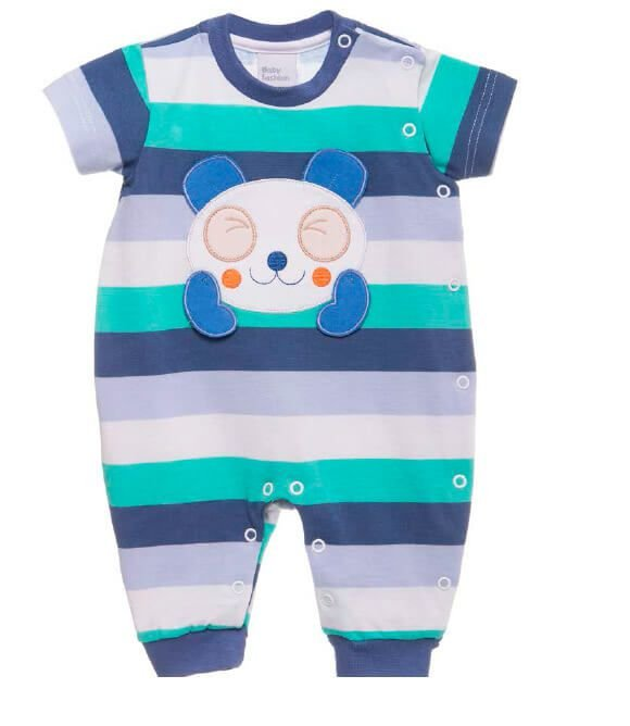 Macacão Bebê Menino Baby fashion bebê menino Koala listras