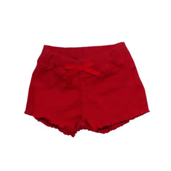 Shorts infantil Menina Momi vermelho sarja -