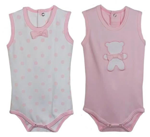 Conjunto 2 Bodies Baby fashion Bebê Menina