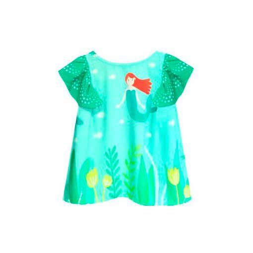 Bata infantil Menina Das meninas verde sereia