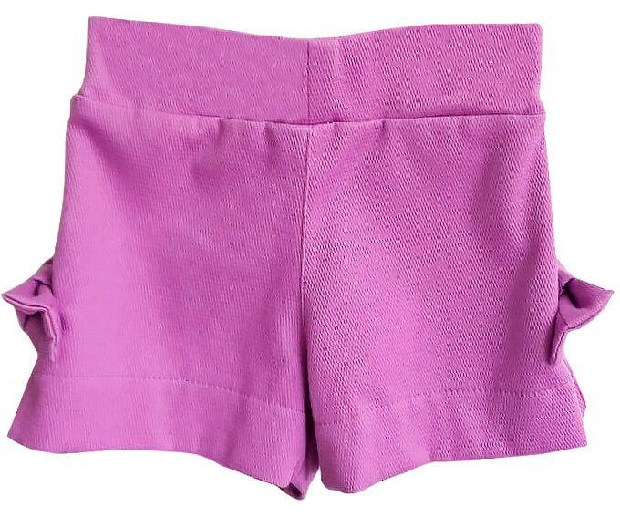 Shorts infantil feminino que te encante calla roxo
