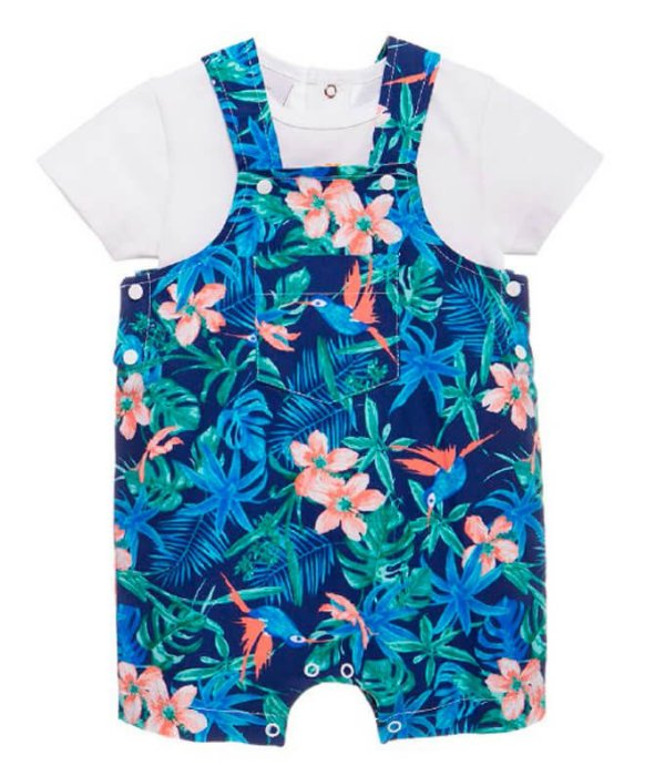 Jardineira de bebê menino Baby Fashion Tropical