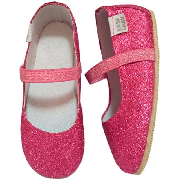 Sapatilha Infantil Babo Uabu Bailarina Pink Glitter