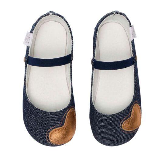 Sapatilha Infantil Babo Uabu Jeans Coração