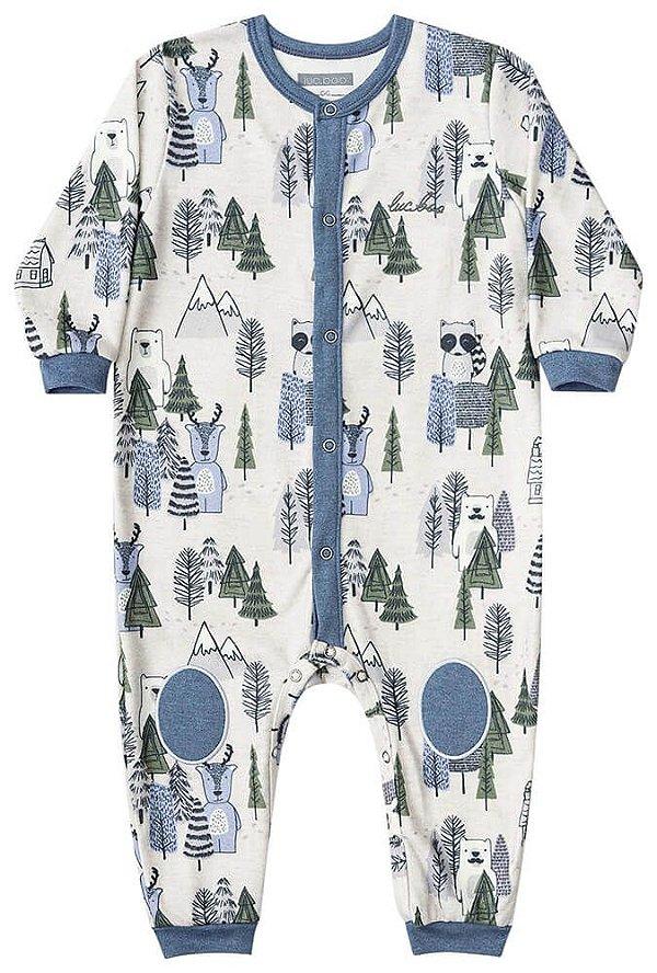 Macacão de bebê Luc.boo bosque fleece