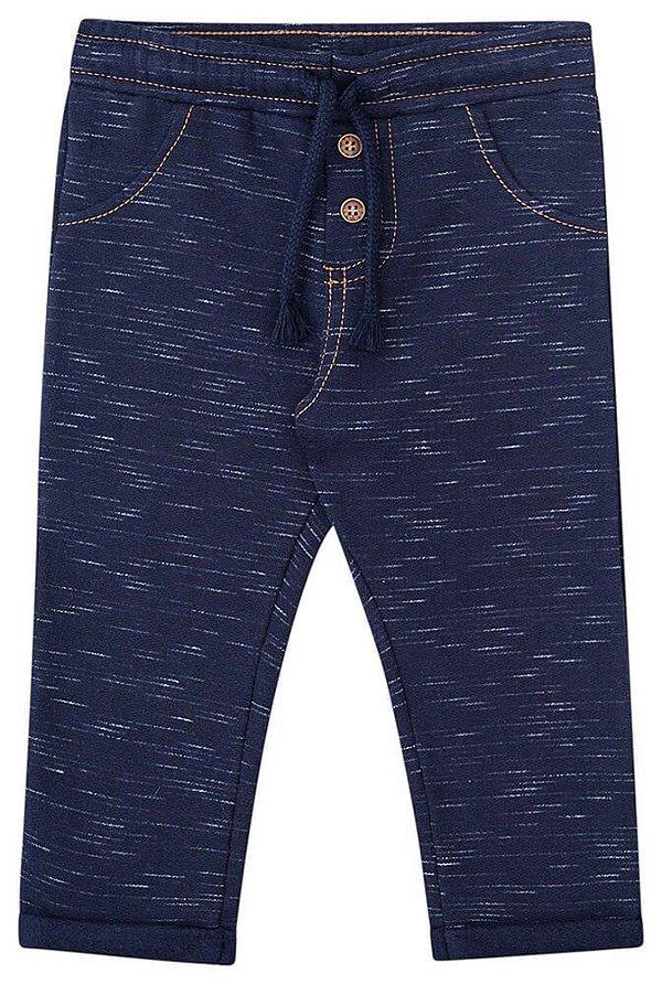 Calça de bebê luc.boo Moletom jet imita jeans