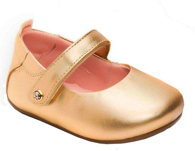 Sapatilha infantil gambo Napa cristal ouro lisa