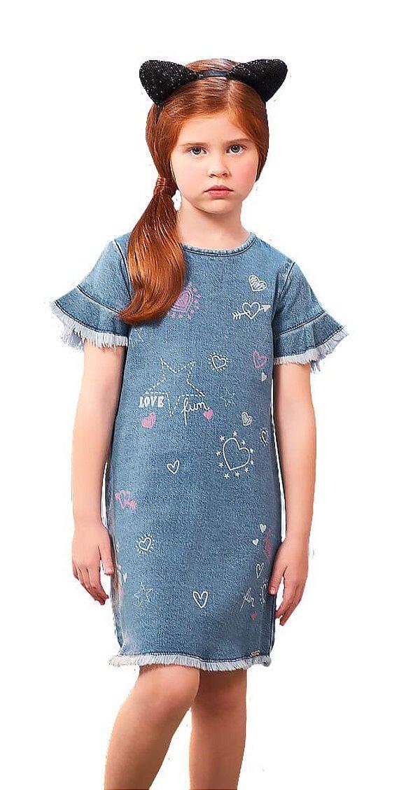 Vestido infantil Momi Jeans Love
