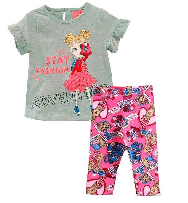 Conjunto infantil Momi fotógrafa stay fashion com legging