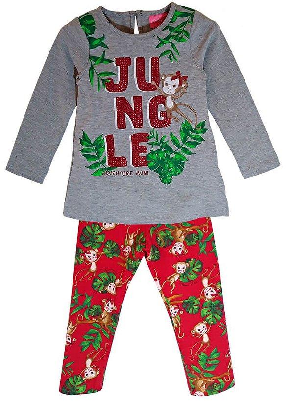 Conjunto infantil Momi macaquinho jungle com legging