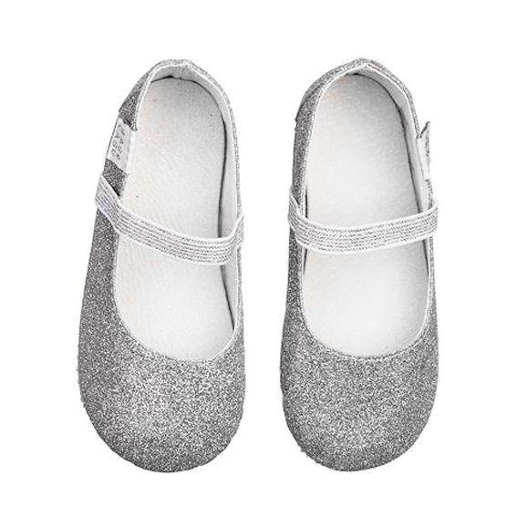 Sapatilha Infantil Babo Uabu Bailarina prata Glitter