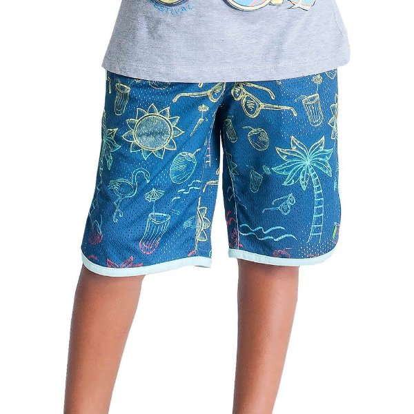 Bermuda Infantil Oliver jr Summer neon Tecido tecnológico