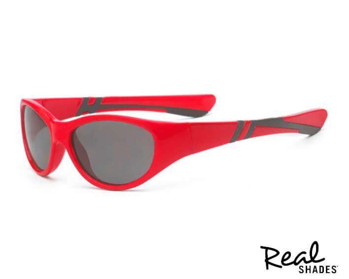 Óculos De Sol Discover Vermelho E Preto Real Shades