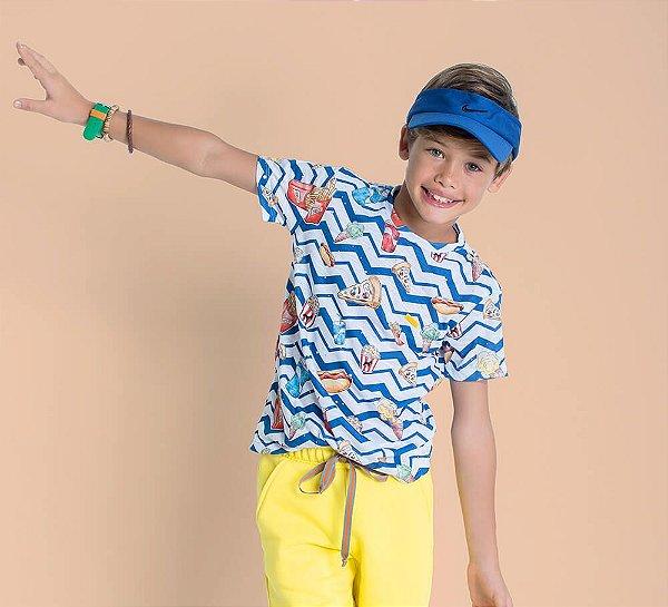 Camiseta infantil Oliver Jr. Chevron lanche