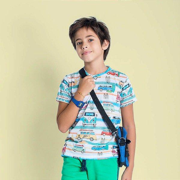 Camiseta infantil Oliver Jr. Kombi surf Perua