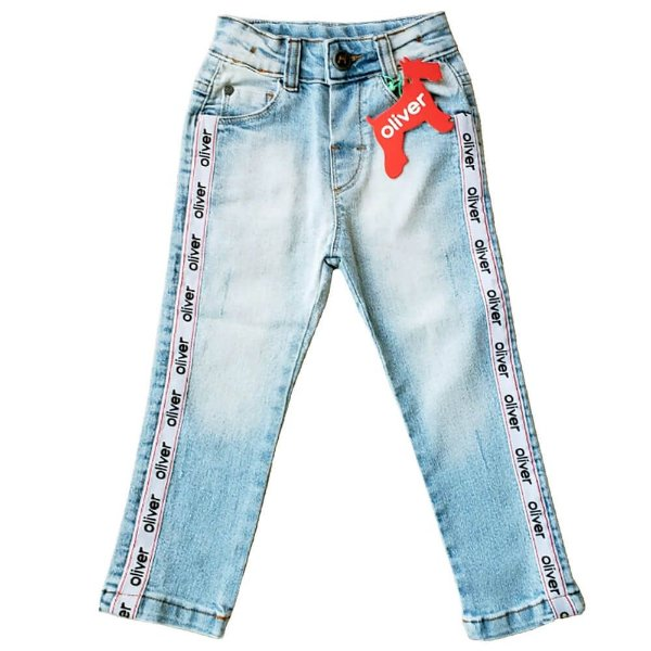 Calça jeans infantil Oliver Jr. Five pocket Fita Lateral