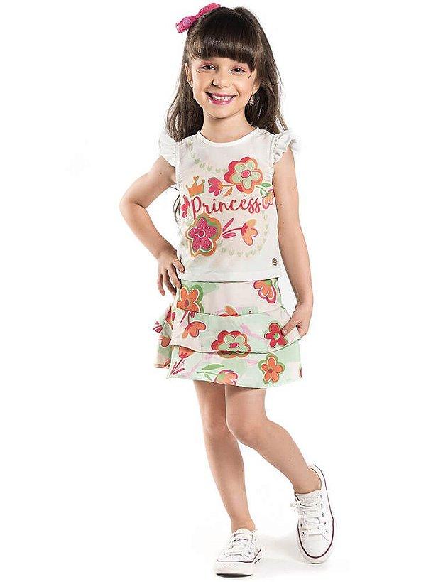 Conjunto infantil Malagah princessa flores