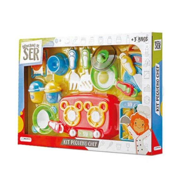 Brincando De Ser Chef Kit Pequeno Chef Multikids
