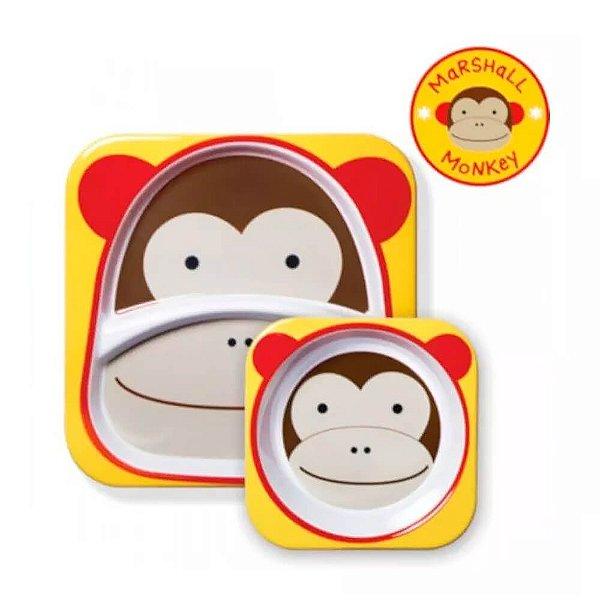 Conjunto De Pratos Macaco Skip Hop Original kit de pratos