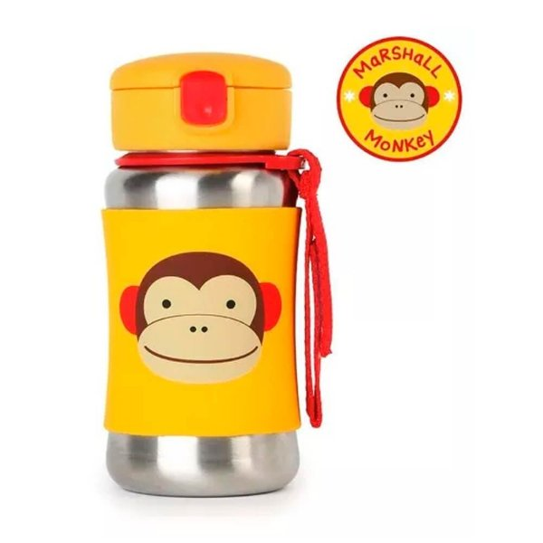 Garrafa Inox Skip Hop Macaco Garrafinha Linha Zoo Original