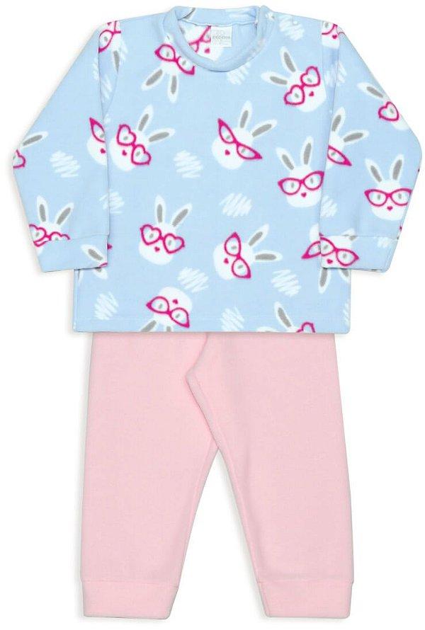 Pijama infantil Dedeka Soft coelhos de óculos Passos