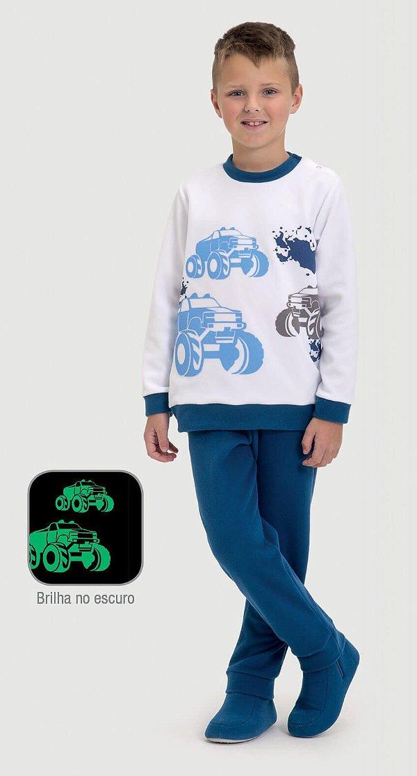 Pijama infantil Dedeka Soft brilha no escuro 4x4 Carros