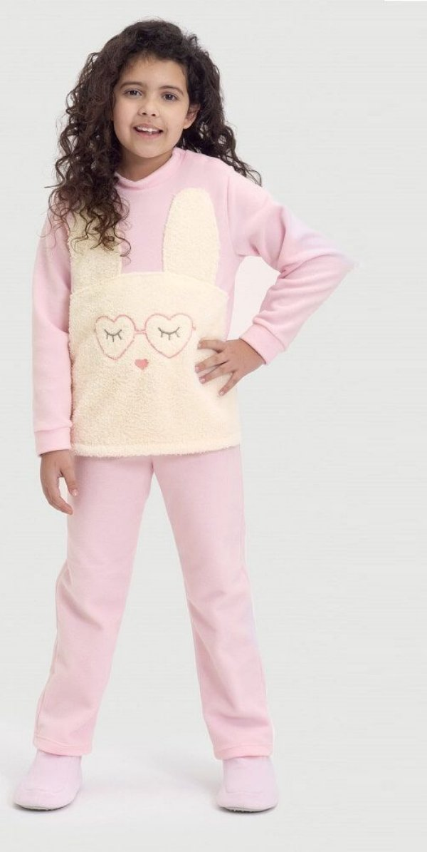 Pijama infantil Dedeka  pijama de soft coelho malha polar