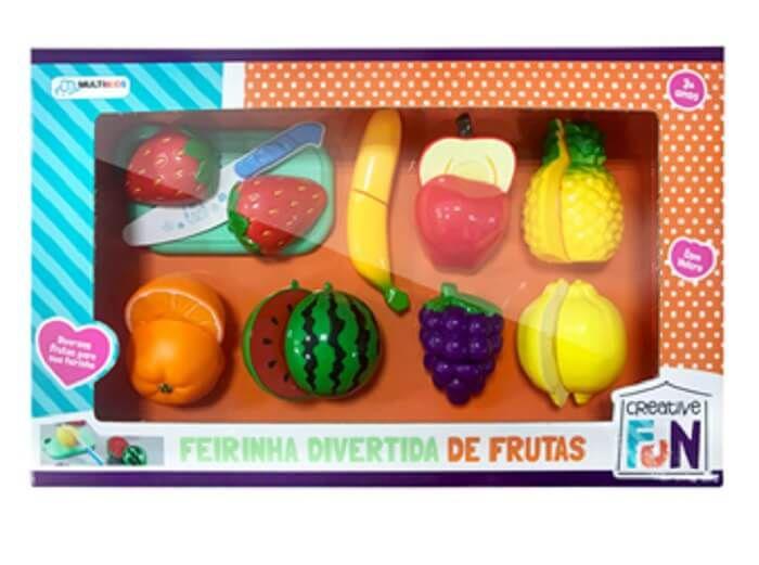 Creative Fun Feirinha Divertida 8 Frutas De Velcro